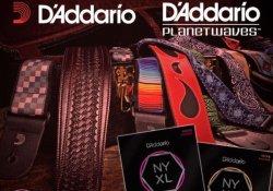 Акция! Купи 5 ЛЮБЫХ комплектов струн D'Addario NYXL и получи гитарный ремень В ПОДАРОК!